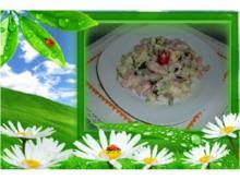 Salate  : Kartoffelsalat mit gekochten Schinken - Rezept