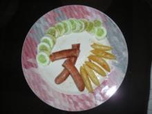 Pfanne- Krakauer mit Schupfnudeln und Gurkengarnitur (FOTO) - Rezept