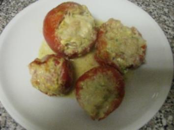 Tomaten gefüllt mit Ziegenfrischkäse - Rezept