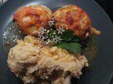 Tomaten-Mozarella- Frikadellen mit Röstzwiebel-Kartoffelstampf - Rezept - Bild Nr. 6