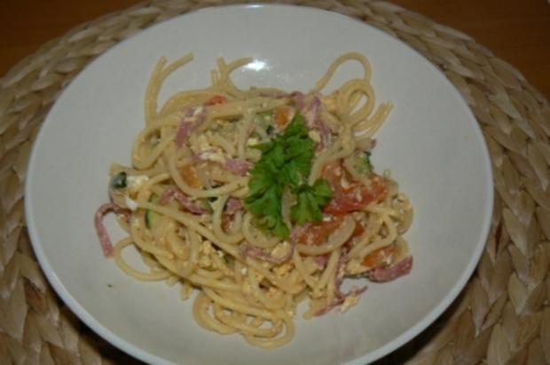 Spaghetti mit Ei mal anders - Rezept