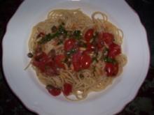 Spaghetti mit Kirschtomaten und Kapern - Rezept