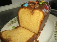 Kuchen : Feiner Sandkuchen mit Schoko-Guß - Rezept