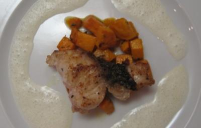 Red Snapper auf Süßkartoffelbett mit Limettenschaum - Rezept