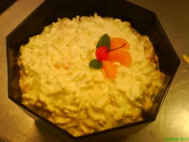 Fruchtiger Käse-Currysalat - Rezept
