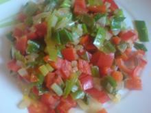 Paprika-Lauchzwiebel-Pfanne - Rezept