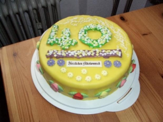 Motivtorte 40. Geburtstag - Rezept