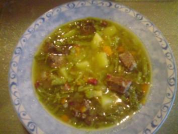 Schnibbelbohnensuppe - Rezept