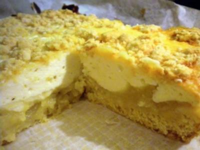 Kuchen: Streusel-Topfen-Apfelmus (geht schnell) - Rezept