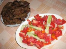 Lamm Leber mit Serbischem Salat - Rezept
