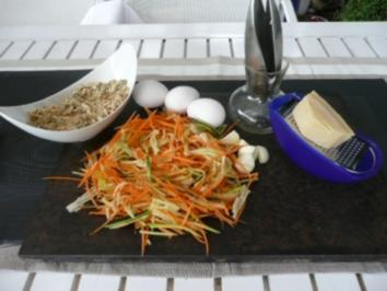 GEMÜSE :Zuccini-Karotten-Plätzchen - Rezept
