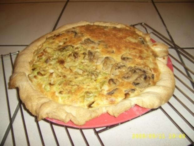 Lauch Quiche und Champignon Quiche - Rezept