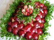 Salat mit Weintrauben - Rezept