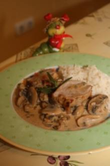 Filet Mignon vom Schwein mit Pilzesahnesauce - Rezept