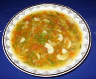 Gemüsesüppchen mit Champignons - Rezept