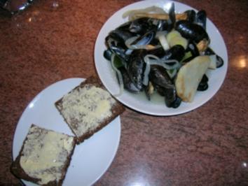Rezept: Muscheln (Rheinische Art) denn ... heute ist Freitag und somit Fischtag