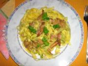 Pfifferling-Fettucine mit Mozarella - Rezept