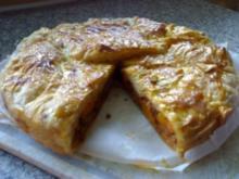 Herzhafte Blätterteig Torte - Rezept