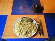 Geflügel: Hähnchenbrustfilet mit Steinpilzsoße und Chilinudeln - Rezept