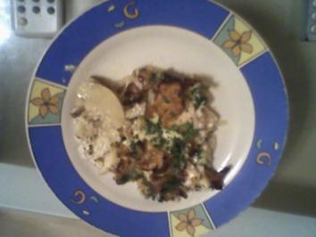 Kartoffelauflauf mit Hähnchenbrust und Pfifferlingen - Rezept