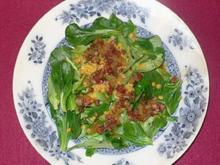 Rapunzelsalat mit Quitten-Vanilledressing an warmen Kartoffel-Linsen - Rezept