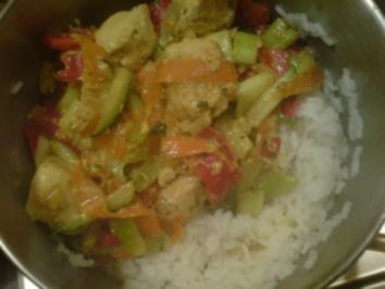Puten-Gemüse-Pfanne, exotisch - Rezept