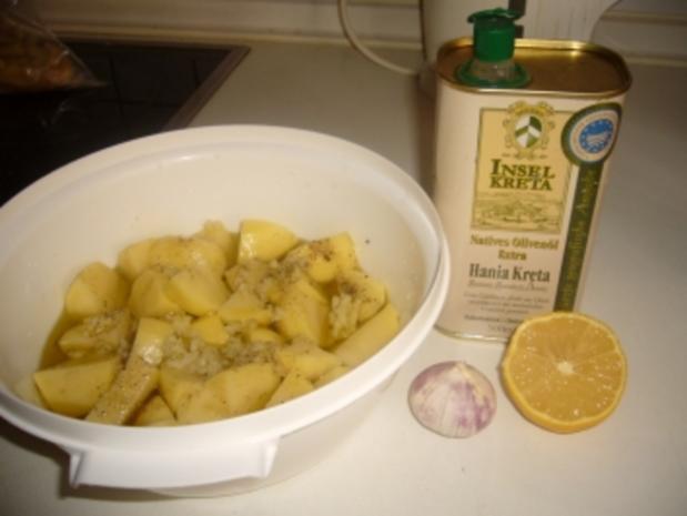 Hähnchenschenkel auf dem Backblech - Rezept