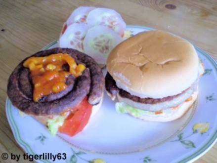Bratwurst-Burger - Rezept