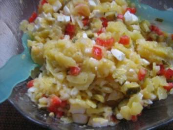 Rosas bunter Kartoffelsalat - Rezept