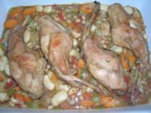 Cassoulet mit Kaninchenkeulen (etwas aufwändig, aber sehr sehr lecker) - Rezept