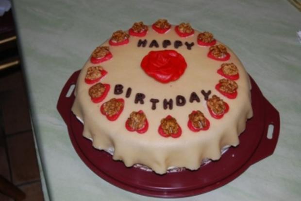 Marzipan - Sahne - Torte - Rezept - Bild Nr. 2