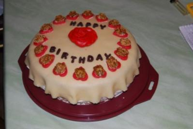 Marzipan - Sahne - Torte - Rezept
