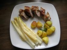 Schnitzelröllchen mit Schinken-Kräuterfüllung - Rezept