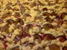 Streusel Pflaumen Kuchen - Rezept