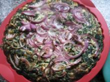 Spinat-Feta Pizza - Rezept