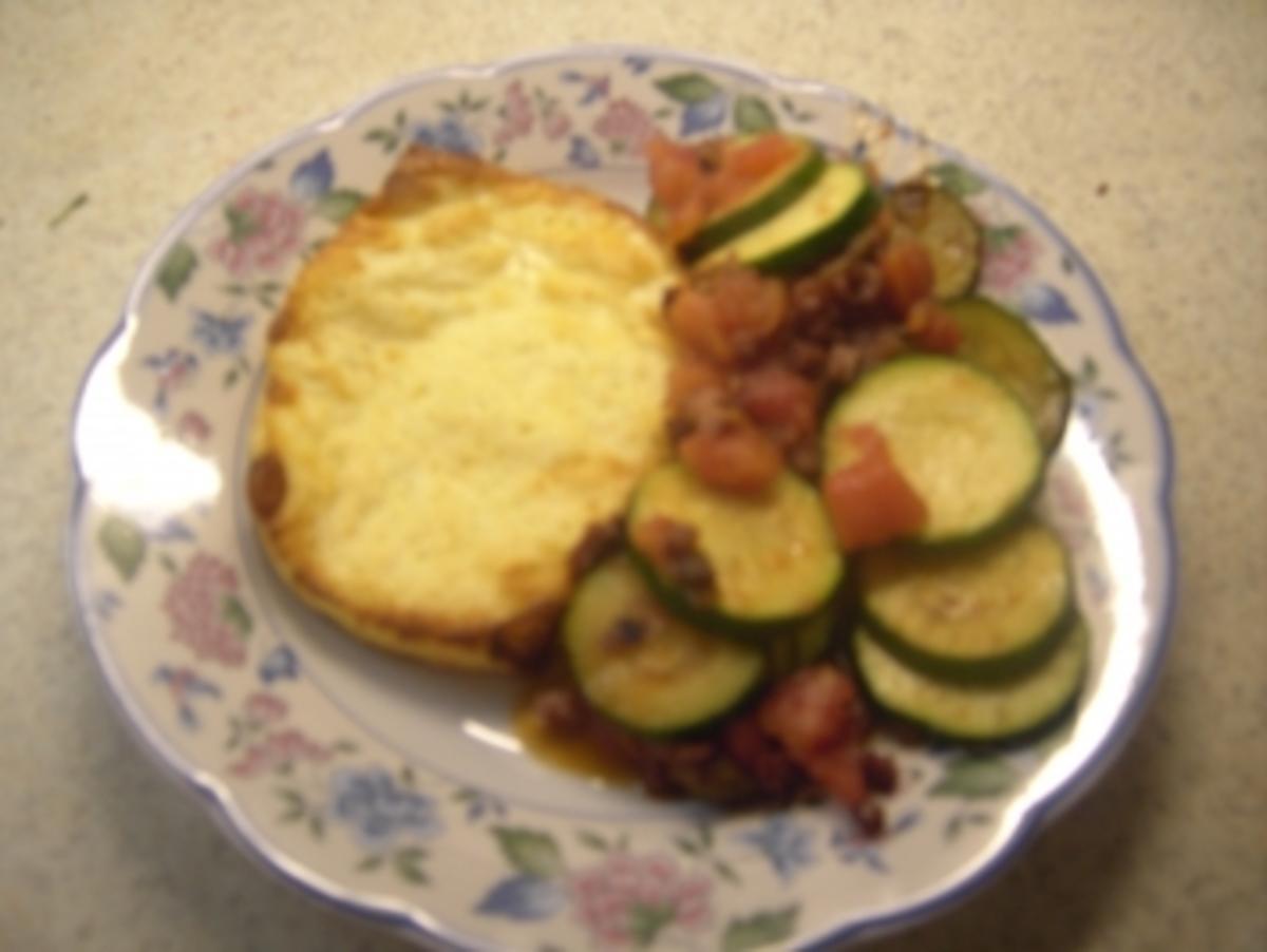 Vorspeisen - Grillkäse mit Tomaten-Zucchini-Gemüse - Rezept Gesendet von andrea21