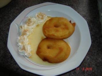 Dessert : Apfelküchle im Bierteig - Rezept