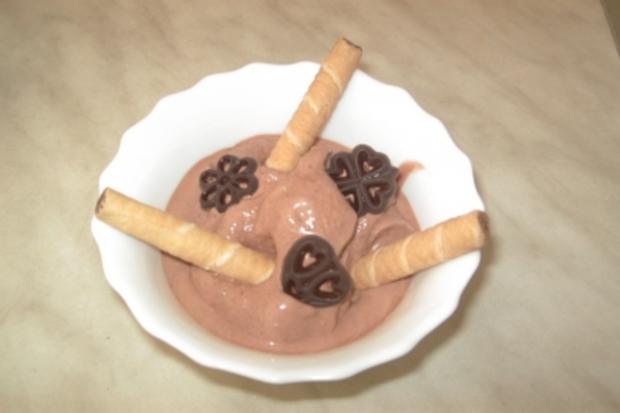 Schokoladen-Eiscreme - Rezept