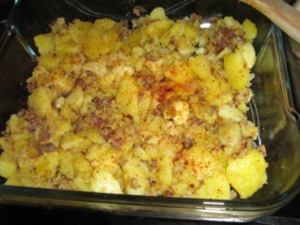 Putenschnitzel auf Bratkartoffeln gratiniert - Rezept - Bild Nr. 4