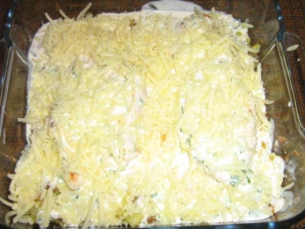 Putenschnitzel auf Bratkartoffeln gratiniert - Rezept - Bild Nr. 8