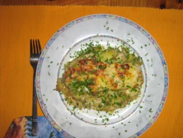 Putenschnitzel auf Bratkartoffeln gratiniert - Rezept - Bild Nr. 10