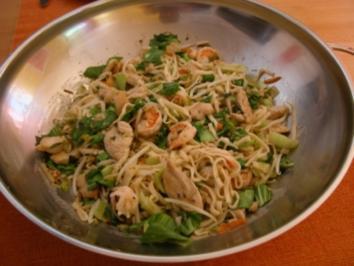 Rezept: Chicken-Shrimp-Wok