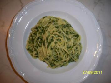spinat-parmesan-pasta - Rezept