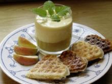 Vanillekrem auf Apfelmus - Rezept