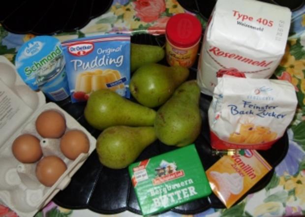 Saftiger Birnenkuchen mit köstlichem Guss - Rezept - Bild Nr. 2