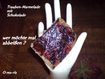 Rezept: Eingemachtes  Traubenmarmelade mit Schokolade