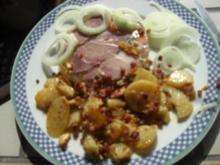 Kartoffel -Eisbein in Aspik mit Bratkartoffeln - Rezept