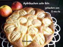 Apfelkuchen sehr fein - Rezept
