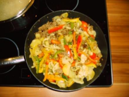 Gemüsepfanne mit Hackfleisch - Rezept