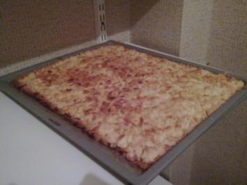 Créme fraiche Streuselkuchen - Rezept